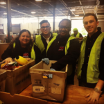 RWDSU/UFCW Local 1102 members helped sort food donations.