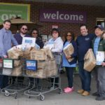 UFCW Local 342 collected food for two days and was able to fill more than 15 passenger vans with food for their local food pantry.