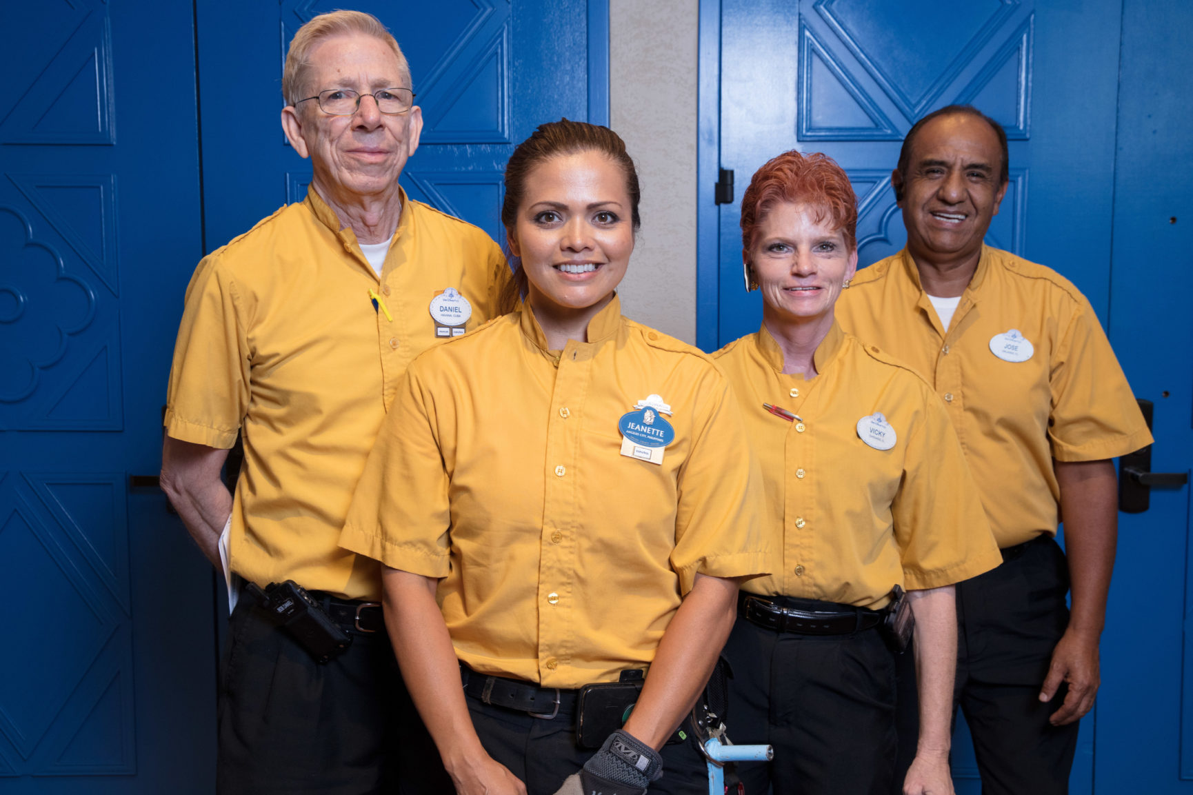 Four UFCW Local 1625 members who work at Disney