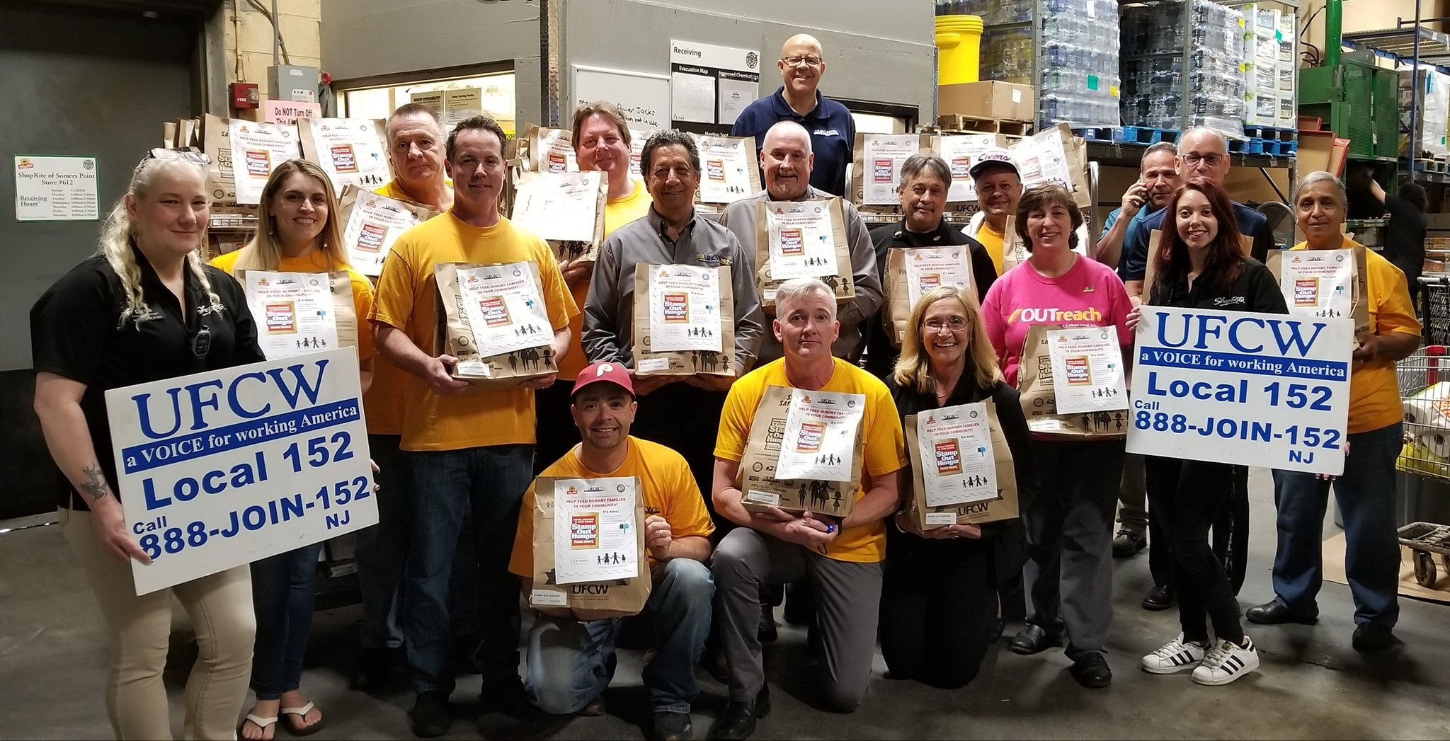 Local 152 Stamp Out Hunger Group Shot
