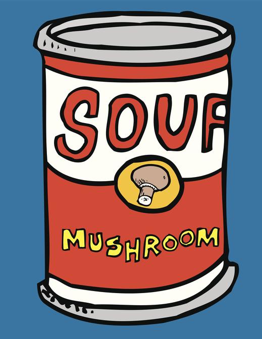 Can of Mushroom Soup. illustration