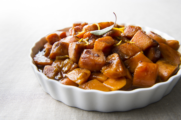 Plate of candied yams