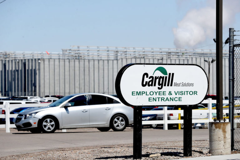 Exterior shot of Cargill meat packing facility