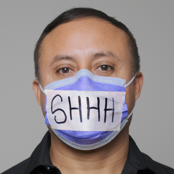 Hispanic Worker with Mask