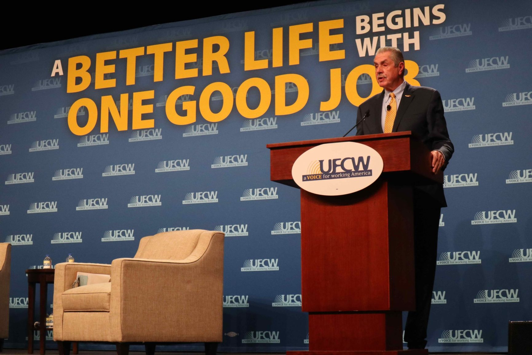 President Marc Perrone at the UFCW Presidential Forum 2020