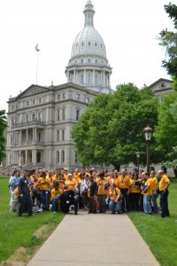 UFCW Locals 876 and 951 travel to Lansing to lobby for an increase in minimum wage.