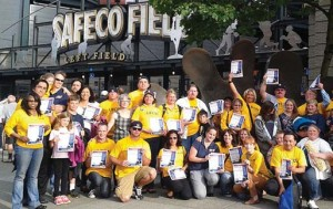 Members from UFCW Locals 21 and 367 join the Teamsters and fight for good contracts for grocery workers in the Pacific Northwest.