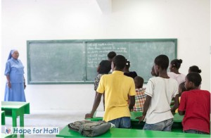 Students started classes at the St. Francois de Sales School in Port-au-Prince on Otcober 1st.