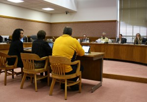 UFCW Local 555 shop steward Sarah DeMerritt (center) testified before the Oregon Senate Judiciary Committee in support of a bill that would ease the penalties for those who unknowingly or inadvertently sell alcohol to a minor for the first time.