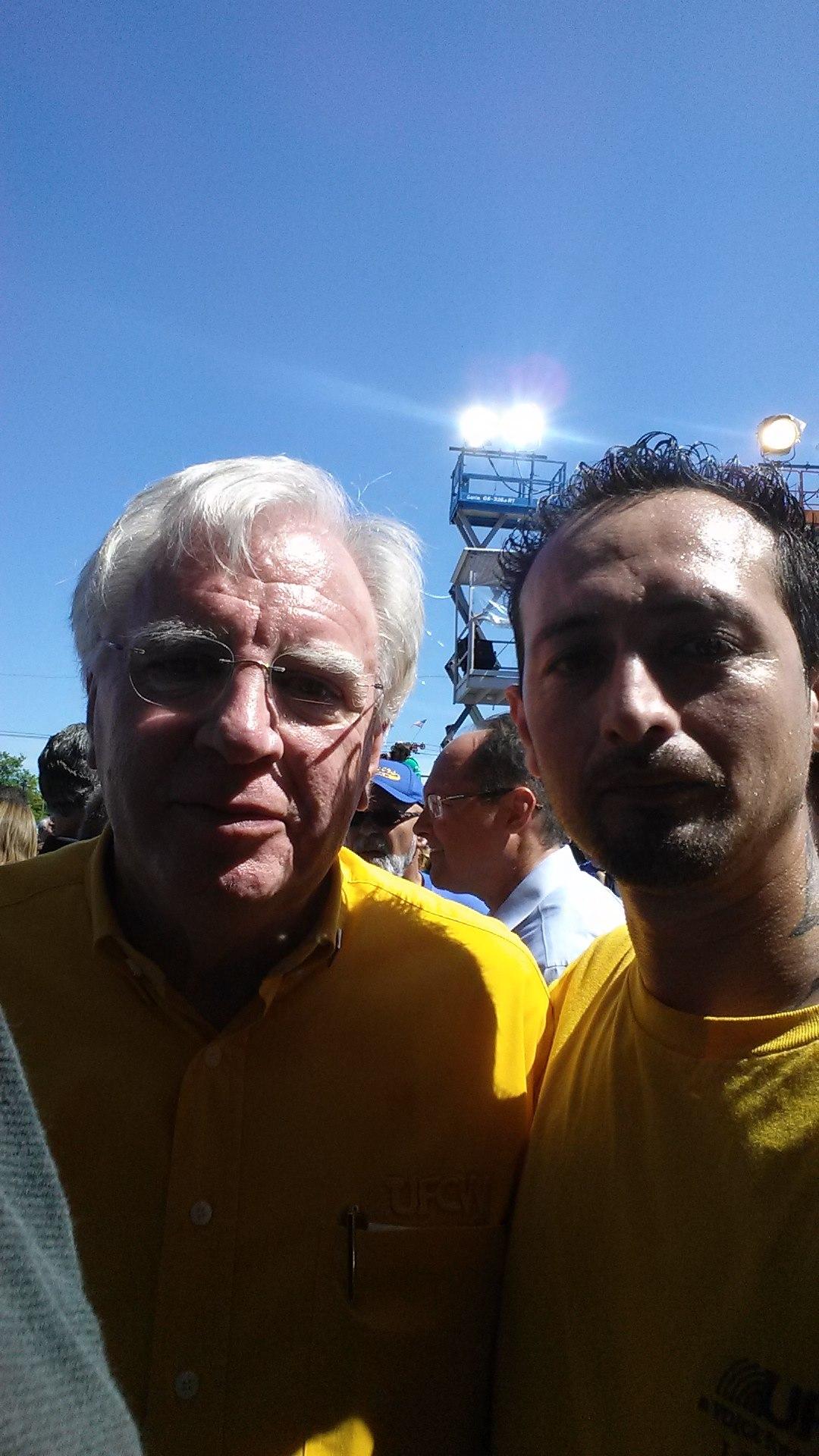 Walter with UFCW International President Joe Hansen
