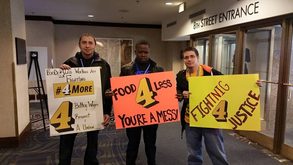 UFCW members and former GOLD interns Mike Roberts, Simplice Mabiala, and Josh Greenlee