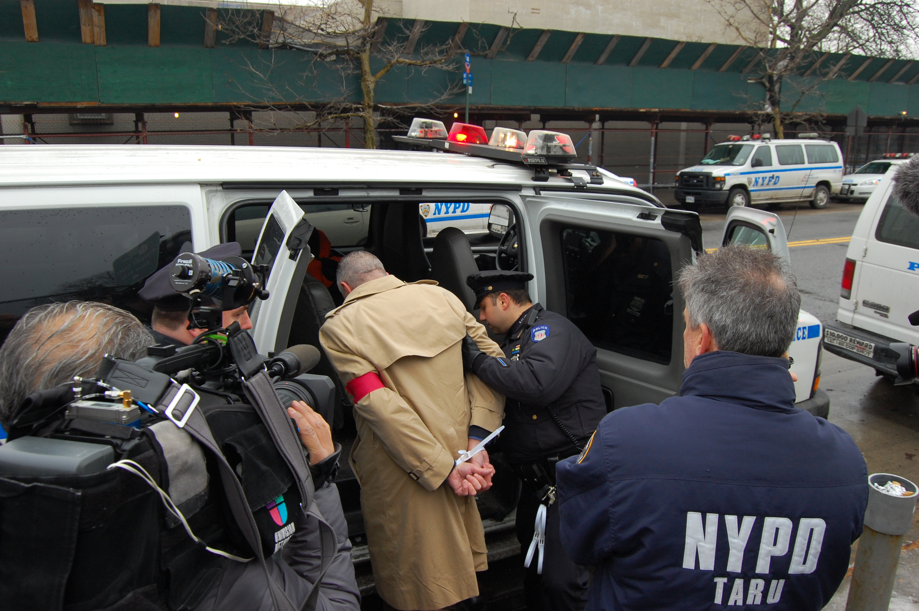 UFCW International President Marc Perrone being arrested at the demonstration