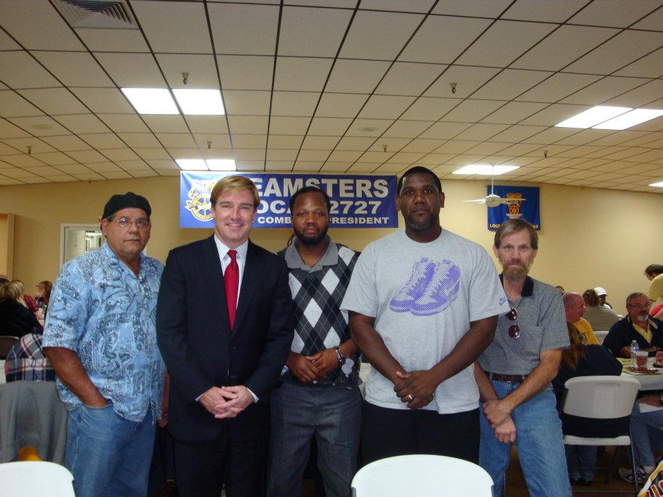 Jeff, center, pictured with fellow Local 227 members and UFCW 227's 2015 endorsed candidate for Governor Jack Conway