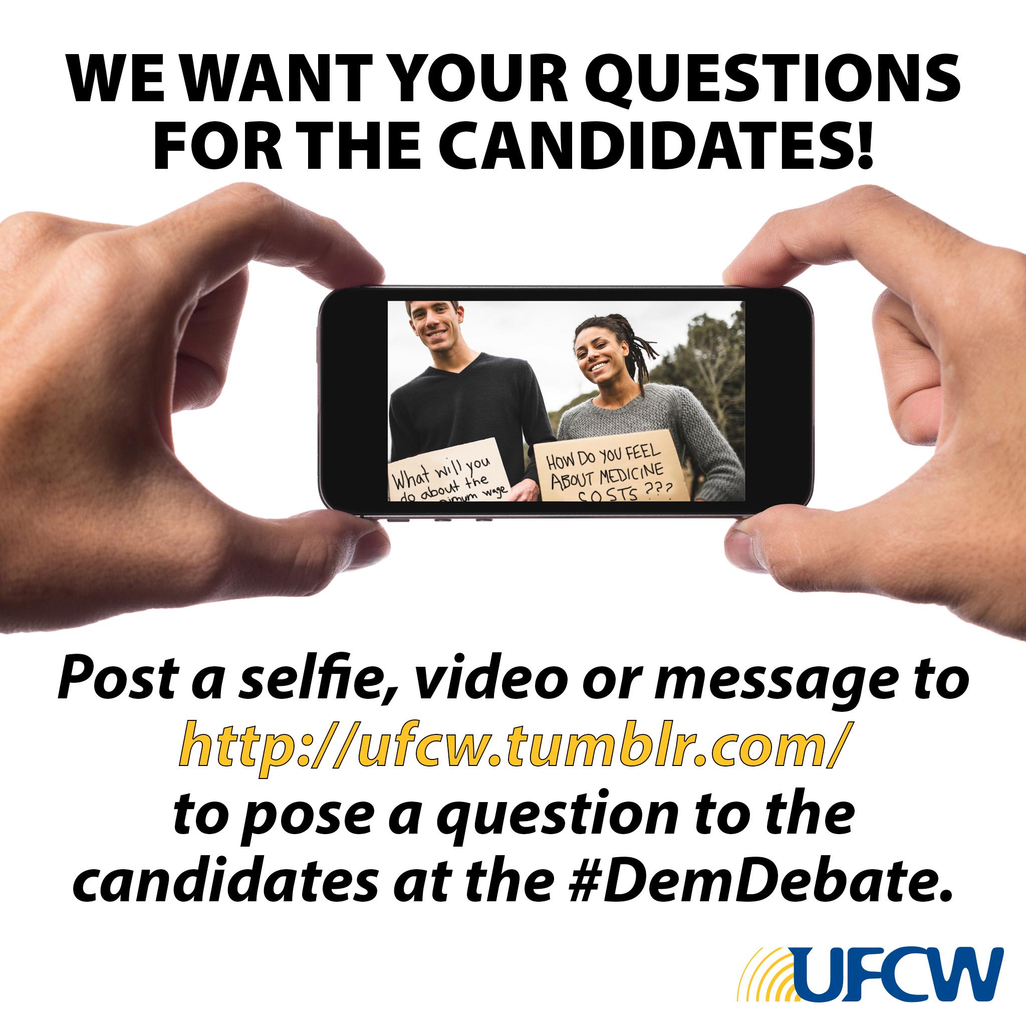 Dem Debate 2015 Selfie Questions