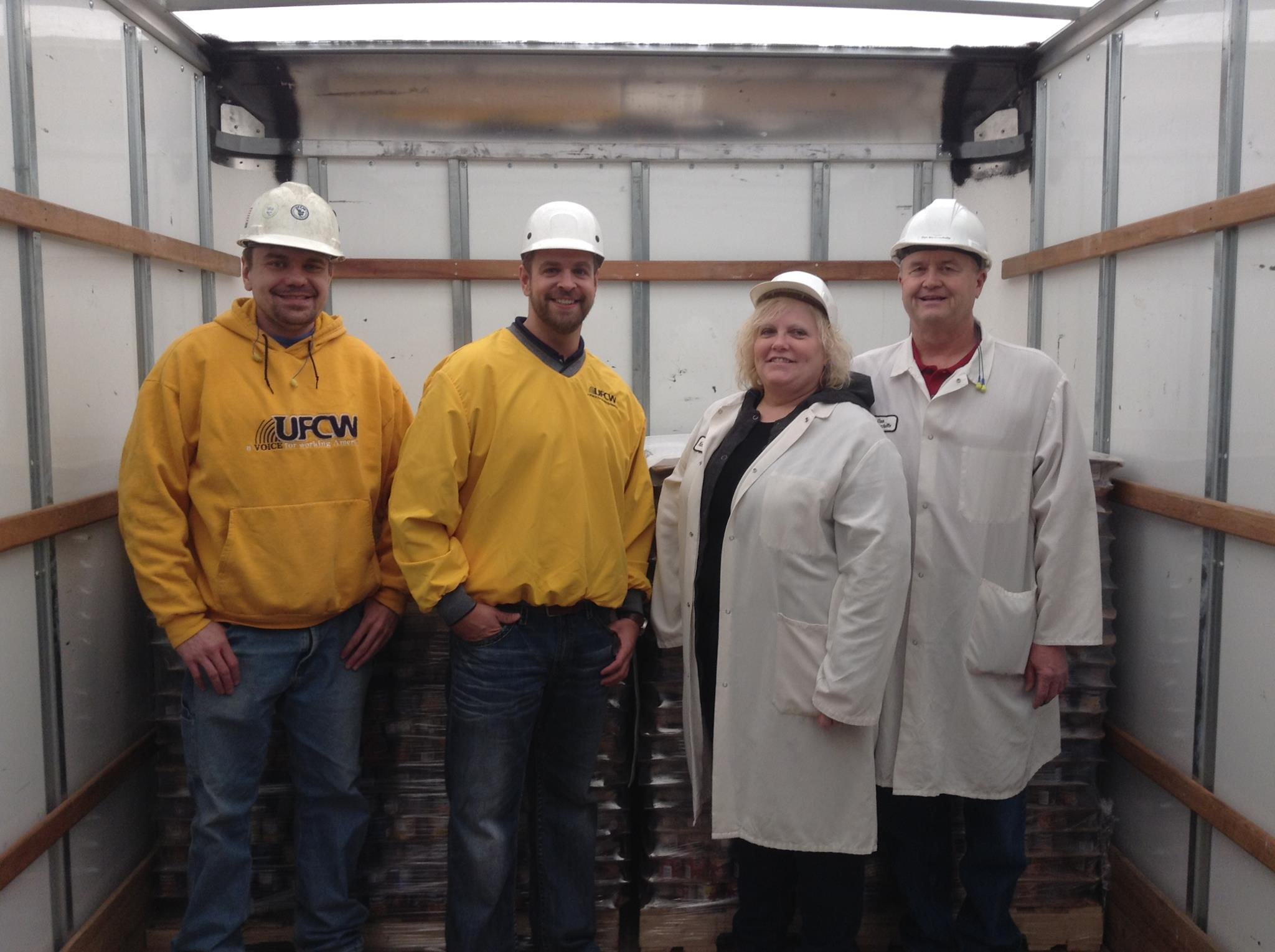 Members of Local 617 who proudly process the products made at the Fort Madison Iowa Plant
